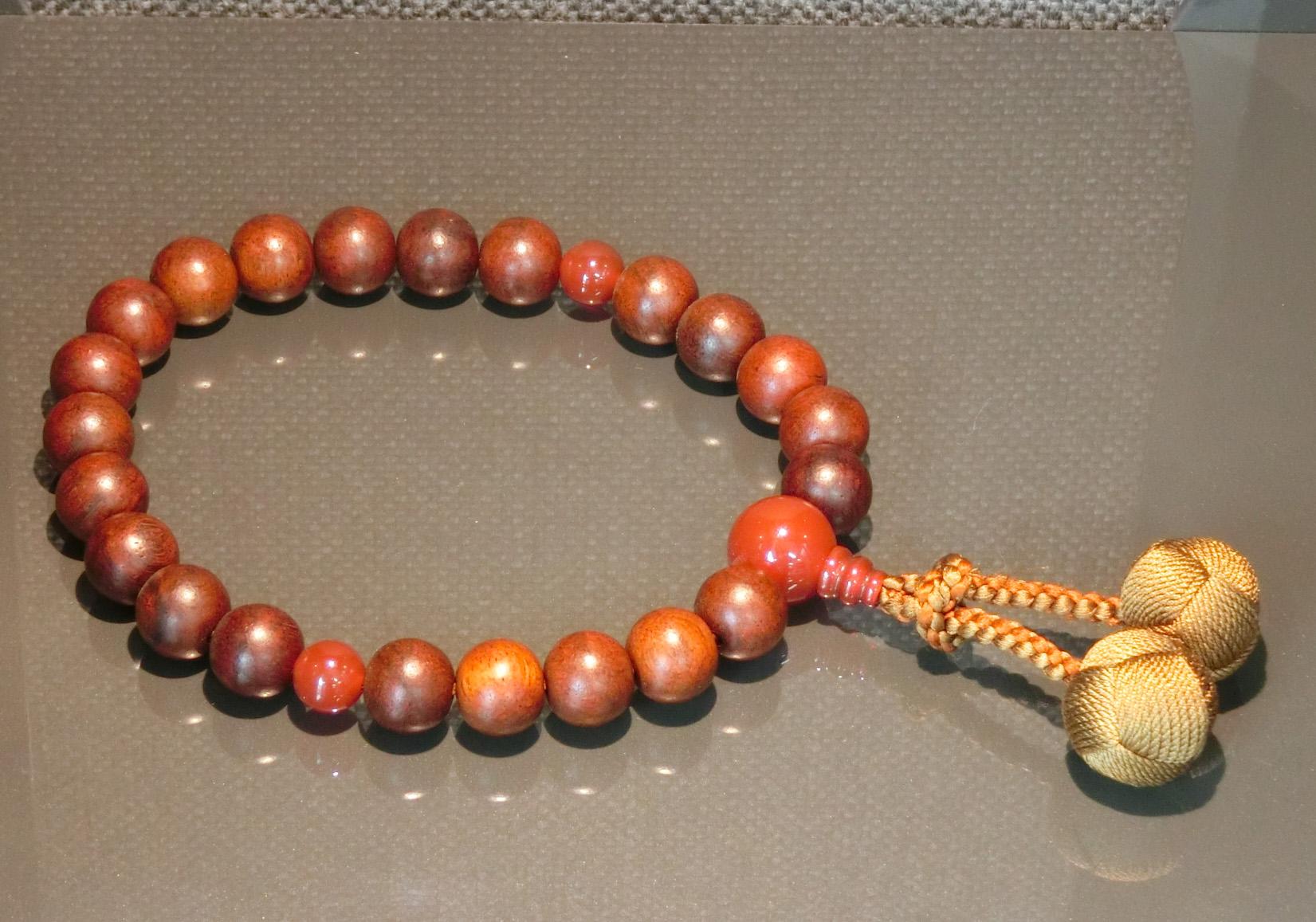 男性用数珠 紫檀瑪瑙(シタンメノウ)仕立