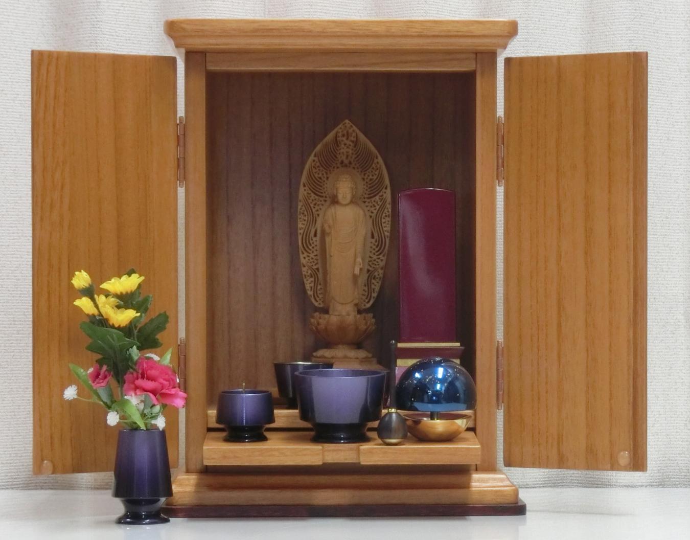 桐材コンパクト仏壇 <!-->やわらぎ<-->