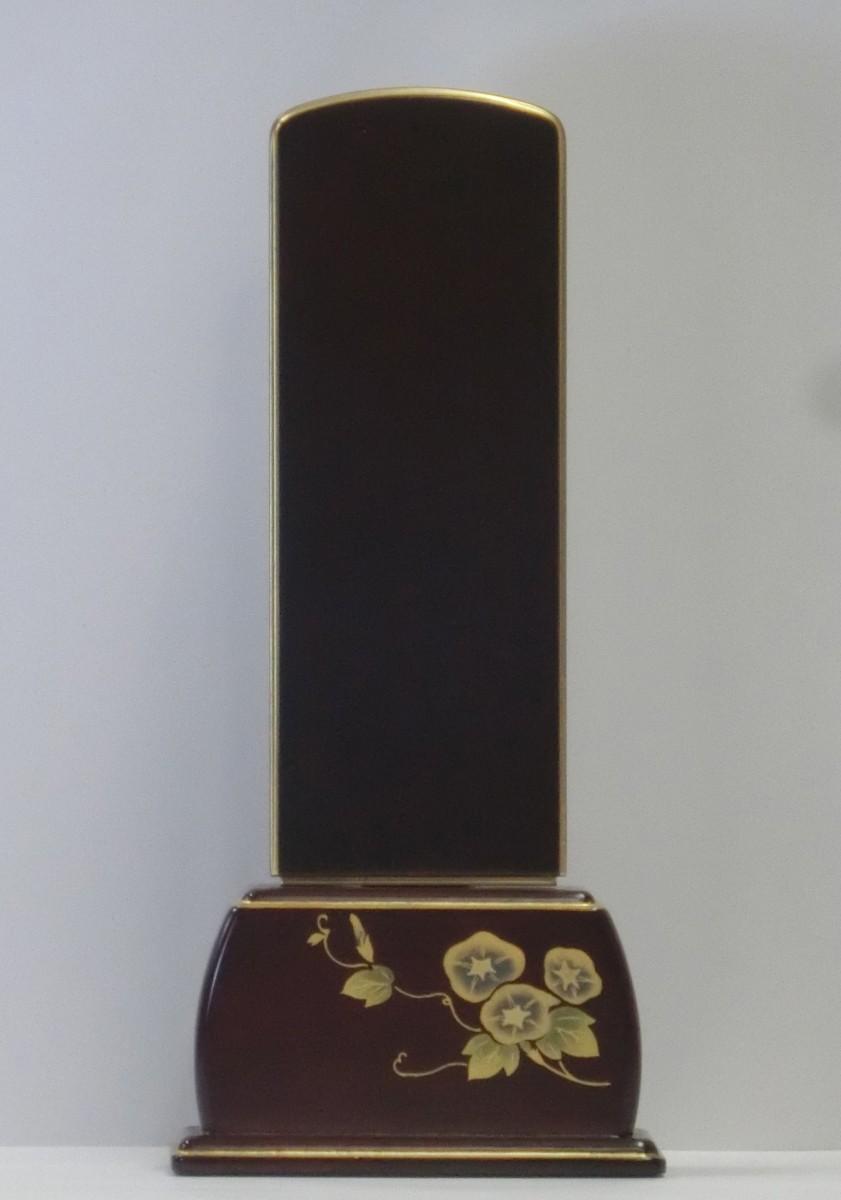 四季の舞(黒檀・紫檀)-蒔絵唐木位牌