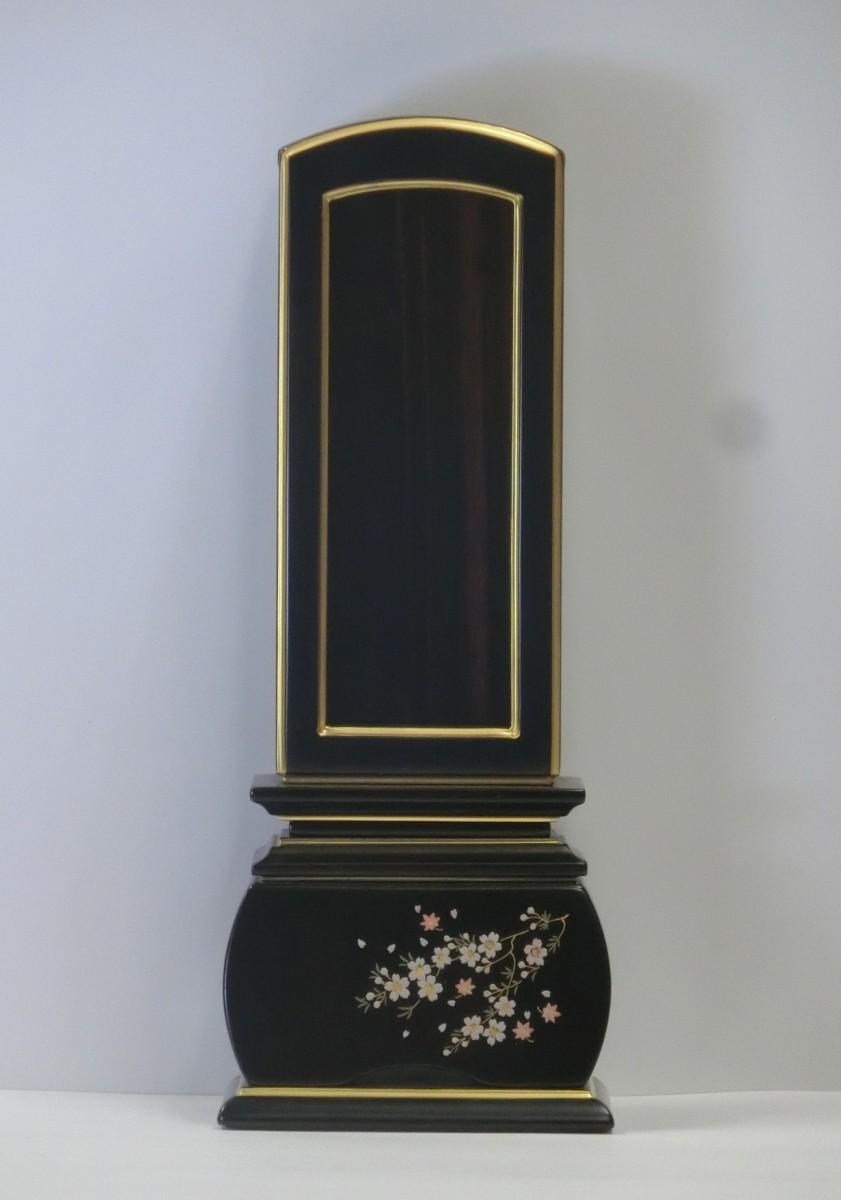風桜回出(黒檀・紫檀)-蒔絵唐木位牌